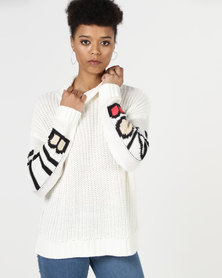 Billabong Salty Dreams Turtleneck Knit Cool Whip
