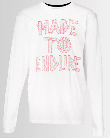 Element Made To Endure Long Sleeve Tee White