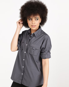 Hi-Tec Ladies Okavango Shirt Charcoal