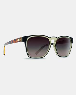43847ec886 Von Zipper Levee Sunglasses Black Gloss Aged Crystal Brown Gradient