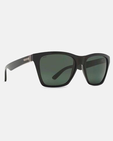 93d3def15be Von Zipper Booker Sunglasses Black Gloss Wild Vintage Grey Polarized ...