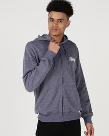Billabong Tailored Zip Thru Hoodie Midnight Blue Heather