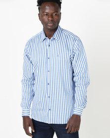 JCrew Check Long Sleeve Shirt Blue
