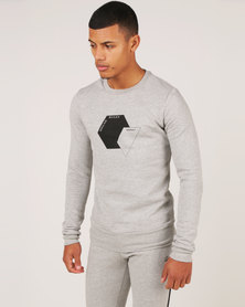 Unruly Octo Pullover Sweatshirt Grey