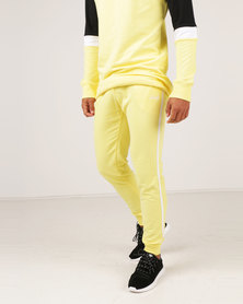Unruly Side Stripe Joggers Yellow
