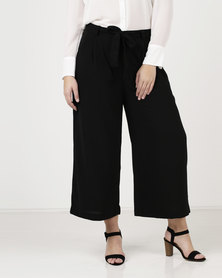 Brave Soul Cropped Woven Trousers Black