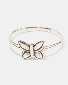 Joy Collectables Butterfly Ring Sterling Silver