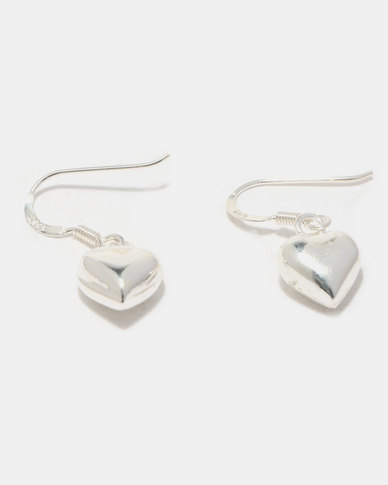Joy Collectables Heart Earrings Sterling Silver