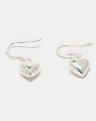 e8efdfe91 Joy Collectables Heart Earrings Sterling Silver