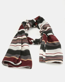 Joy Collectables Light Weight Stripe Scarf Multi Coloured