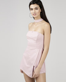 Courtney Cousins Wild Flower Playsuit Powder Pink