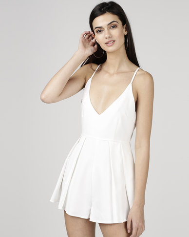 9a78118208 Courtney Cousins Love me Right playsuit white
