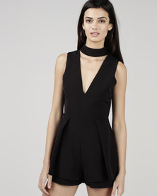 Courtney Cousins Like a Lady Playsuit Black