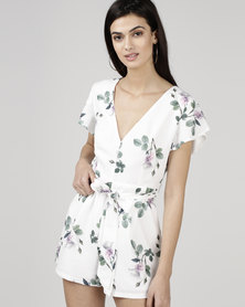 a3f8c5e1ab Courtney Cousins Powder Me Pretty Playsuit White