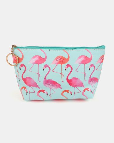Lily & Rose Flamingo Cosmetic Bag Blue & Pink