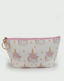 Lily & Rose Unicorn Cosmetic Bag Pink