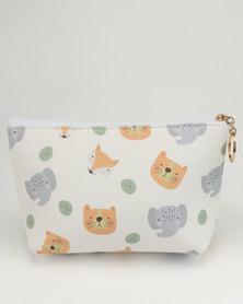 Lily & Rose Animal Print Cosmetic Bag Multi