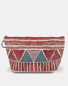 Lily & Rose Aztec Print Cosmetic Bag Multi