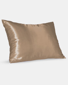Dear Deer Satin Pillow Slip Coffee
