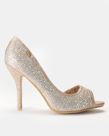 Miss Black Reem Heels Rose Gold