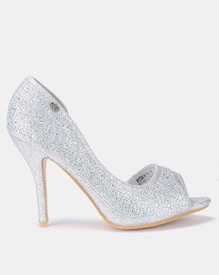 Miss Black Reem Heels Silver