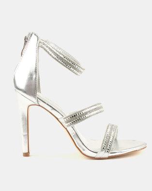 363f76b61035e3 Miss Black Keiko Heels Silver