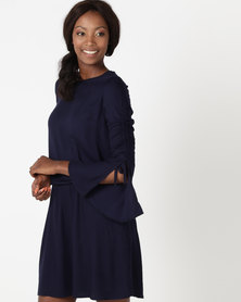 Utopia by Ereshaah Viscose Tunic Dress Navy