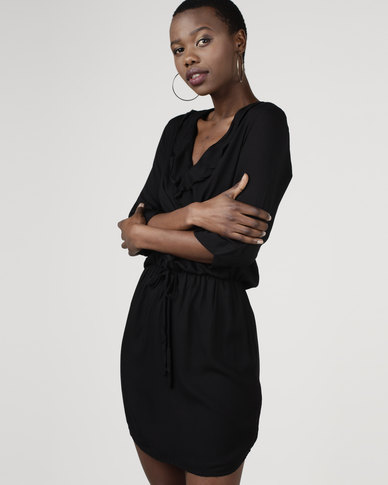 Utopia by Celeste Viscose Tunic Dress Black