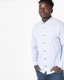JCrew Long Sleeve Fancy Design Shirt Blue