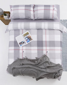 Pierre Cardin Selby Check Duvet Cover Set Grey/White