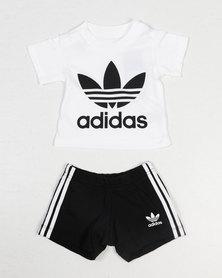 adidas Originals Baby I Trefoil Shorts Set Black