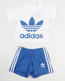adidas Originals Baby I Trefoil Short Set Blue