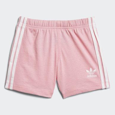 c1d8c6622023 adidas Originals Baby I Trefoil Shorts Set Pink