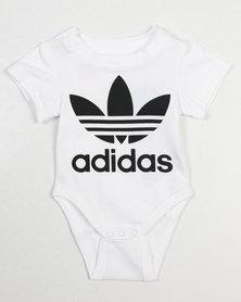 adidas Originals Baby Trefoil Babygrow White