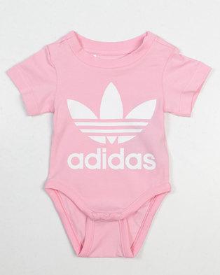 adidas Originals Baby Trefoil Babygrow Pink fb2410799