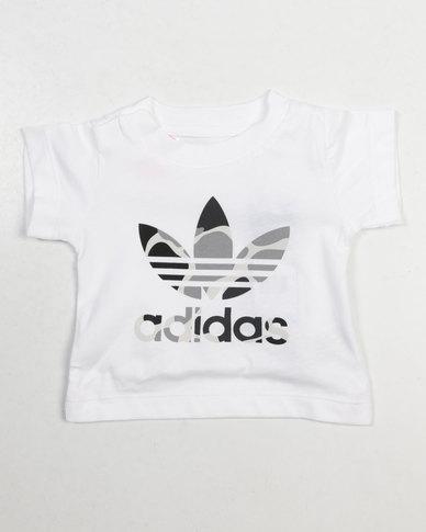 34c8239b78a47 adidas Originals Baby I C Trefoil Tee White