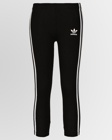 d61b3f7d8bd adidas Originals Girls L Leggings Black | Zando