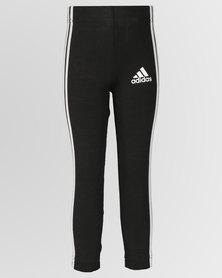 adidas Originals Girls Cotton Tights Black