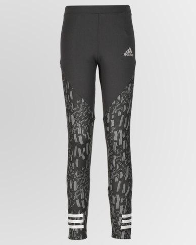 adidas Originals Girls Training Tights Grey