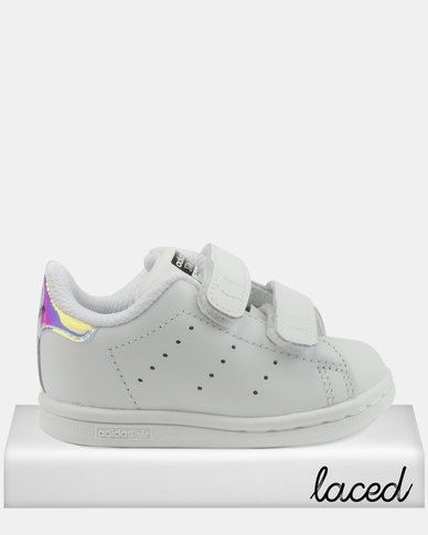 buy online 7c01c 92ad7 adidas Girls Stan Smith CF I Sneakers Silver   Zando