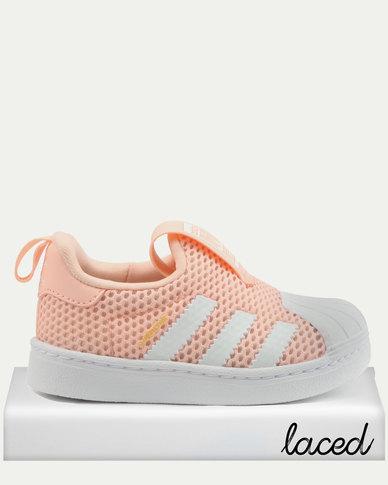 quality design 1e9fa d7c78 adidas Originals Girls Superstar 360 Infant Sneakers Pink