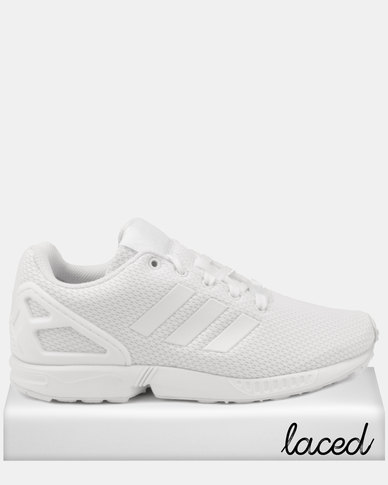 aac04b3d5b adidas Originals Girls ZX Flux J Sneakers White