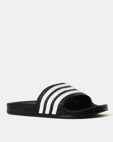 watch 47709 b113d adidas Boys Adilette J Slides Black   Zando