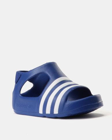 2bf37ffcc4f1 adidas Boys Adilette Play I Slides Blue
