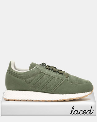 separation shoes cc755 f8139 adidas Original Boys Forest Grove Sneaker Olive