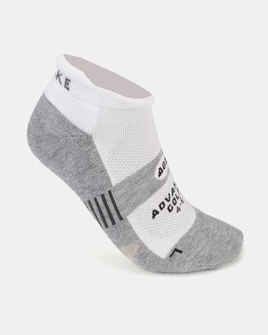 Falke Performance Low Cut Silver Golf Socks Grey/White