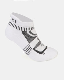 Falke Performance Hidden Stride Socks White/Grey