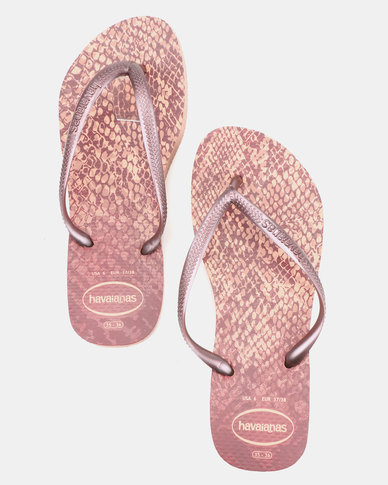 377f70e7b904d3 Havaianas Slim Animals Flip Flops Crocus Rose