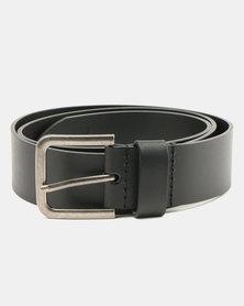 Wembley Elliot Bonded Leather Belt Black