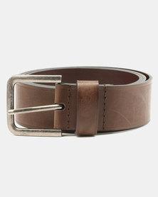 Wembley Elliot Bonded Leather Belt Tan